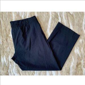 LANE BRYANT Pinstripe Straight Leg Dress Pants